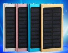 Ultra-mince Polymère D'énergie Mobile Solaire 20000 mAh Mobile Téléphone Charge multi-fonction chargeur pour IPODMP3 MP4 IPHONE GPS
