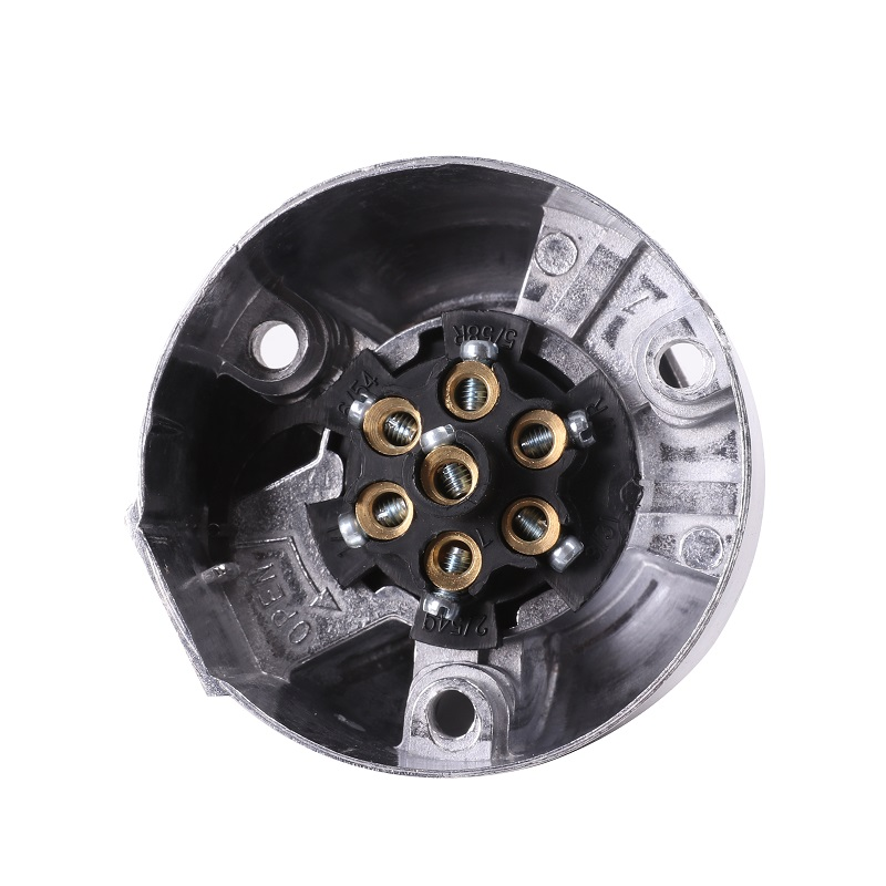Image 4 - 12vTrailer female Socket 7 Pin Type camp towing adapter  male plug Car Accessories 7 Way aluminum Metal Connector truck  lorry-in Trailer Couplings & Accessories from Automobiles & Motorcycles