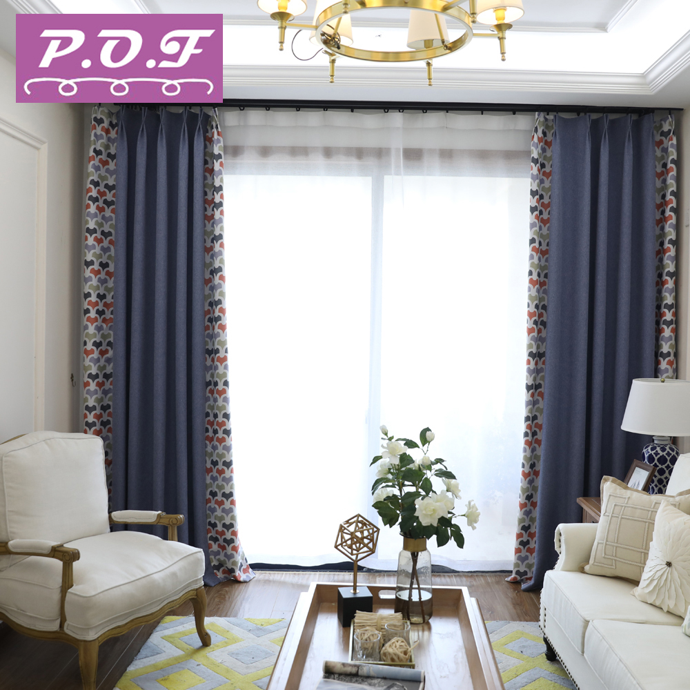 P.O.F Curtain for living room or bedroom chenille fabric high ...