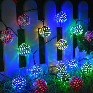 Image 2 - ソーラーストリングライト 10/20 モロッコボール Led ストリングの妖精ライト装飾休日クリスマス照明屋外の結婚式の装飾