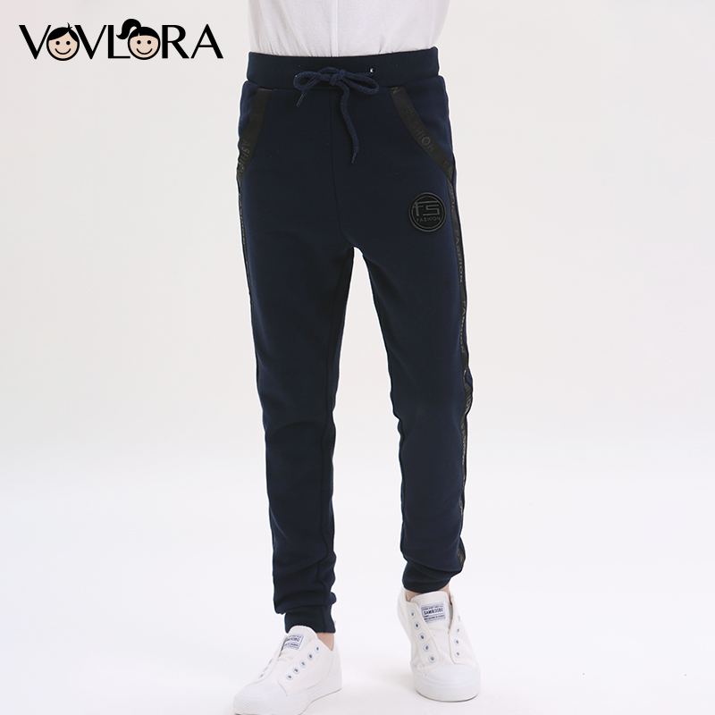 Summer Cotton Sport Boys Pants Letter With Drawstring Pencil Kids Pants Skinny Children Trousers Size 7 8 9 10 11 12 13 14 Years