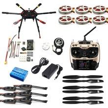 JMT DIY Full Set Hexacopter GPS Drone Aircraft Kit Tarot X6 6-Axis TL6X001 PX4 32 Bits Flight Controller Radiolink AT9S TX&RX