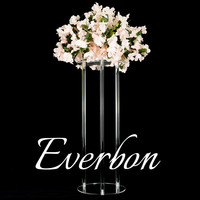 10Pcs/Lot New Wedding Road Lead 65CM/25.5'' Tall Acrylic With Crystal Europe Wedding Centerpiece Event Party Deco Mariage 6