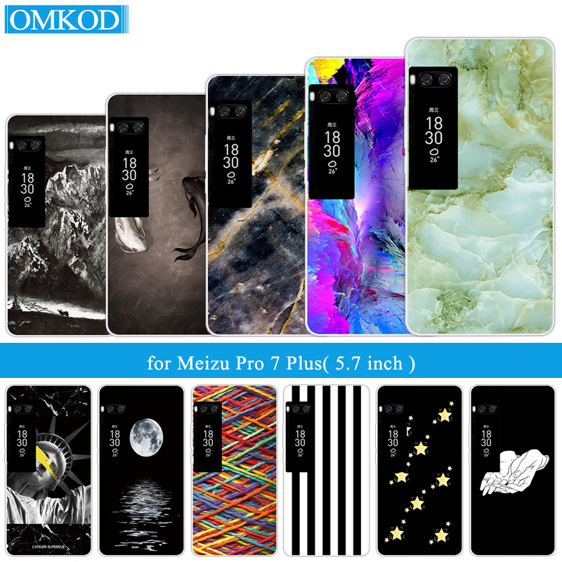 Luxury TPU Fish Case For Meizu Pro 7 Plus Back Cover 5.7 inch For Meizu Pro 7 Plus Transparent Coque Phone Cases Shells Capa