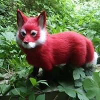 Handmade Fox Model Big Simulation Standing/Sitting Red Fox Toy Polyethylene&furs Gift