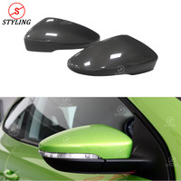 Passat CC Scirocco Real Carbon Mirror Cover For Volkswagen Beetles Bora RearView Mirror Cover Replacement 2010 2011 2012 2013