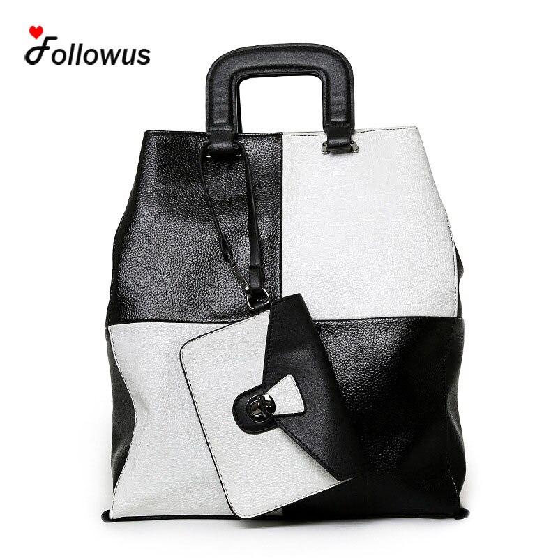 ФОТО Women Leather High Capacity Composite Tote Handbags PU New Fashion OL Business Messenger Shoulder Bag Bolsa Feminina