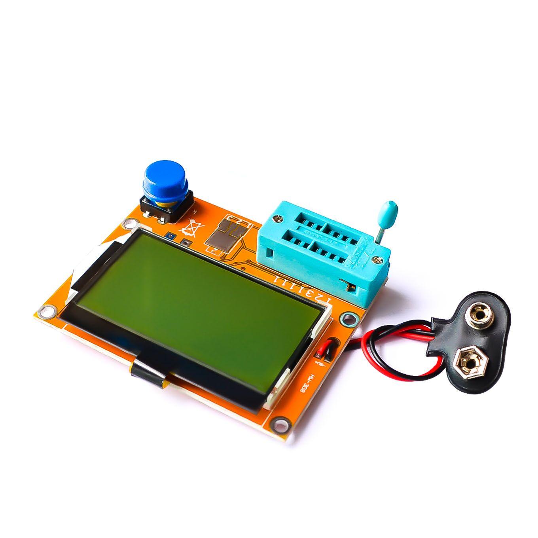10PCS LOT Mega328 M328 LCR T4 ESR Meter LCR led Transistor Tester Diode Triode Capacitance MOS