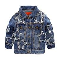 Для мальчиков пять звезд джинсовой одежды куртка, новинка 2017 осенняя одежда для детей Детская куртка для малыша u5327