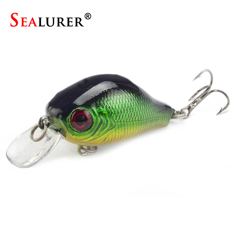 SEALURER Floating Wobbler Fishing VIB Lure 5cm 9G Artificial Fly Pesca Crankbait Hard Bait Jerkbait Tackle 5color Available 1Pcs 1pcs 9cm 9 1g big wobbler fishing lures sea trolling minnow artificial bait carp peche crankbait pesca jerkbait ye 207