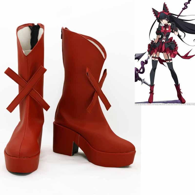 Nouvelle porte Jieitai Kano Chi nite, Kaku Tatakaeri Rory Mercury Cosplay bottes Anime chaussures sur mesure