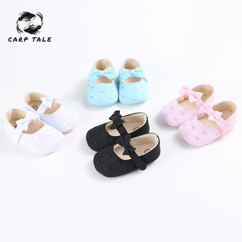 Baby Girl shoes lovely Bowknot Leather 4 color Shoes Anti Slip Sneakers Soft Sole toddler shoes 0 12 month drop ship 2019 in First Walkers from Mother Kids