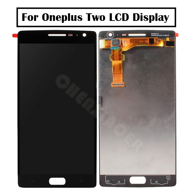 <font><b>Oneplus</b></font> Two LCD Display + Touch <font><b>Screen</b></font> 100% Good Digitizer Assembly <font><b>Replacement</b></font> Accessories For One Plus <font><b>2</b></font> Mobile Phone image