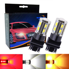 2Pcs 3157 3156 3057 3056 12 SMD LED Bulbs Cree Led Chip Car lamp rear brake Lights Source parking 12V Amber White Red B017