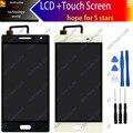 Preto branco de 5.5 polegadas 100% Original Display LCD + Touch Screen Substituição Assembly Para xtouch bluboo x500 + ferramentas