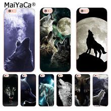 MaiYaCa Animal Wolf Colorful Cute Phone Accessories Case for