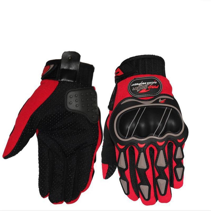 Leather Gloves Motorcycle motocross Bike Riding breathable Men Women Full Finger Touch Screen