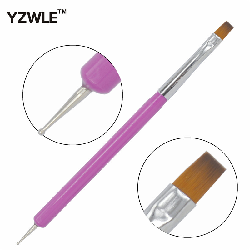 YZWLE 1 Pc New Arrival Promotion Nail Art Pen Painting Dotting Acrylic UV Gel Polish Nail Brush Liners Tool 10-11