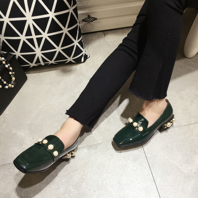 ФОТО High Quality Genuine Leather Flats low heel Women Spring and Autumn Flat Heel Shoes Casual Women's Flats Brand Famous Designer