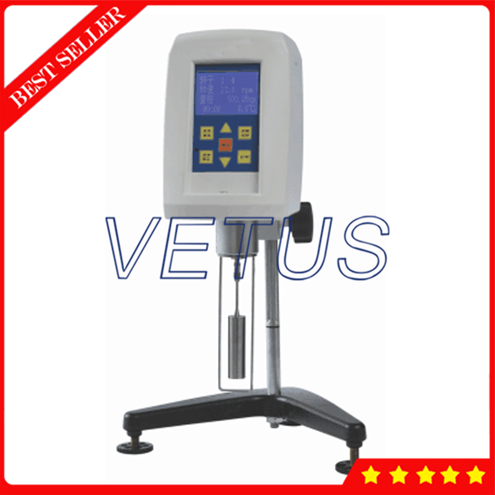 Portable Rotational Viscometer For Oil Paint Coating pulp With Printer Interface Digital Rotary Viscosity Tester Meter