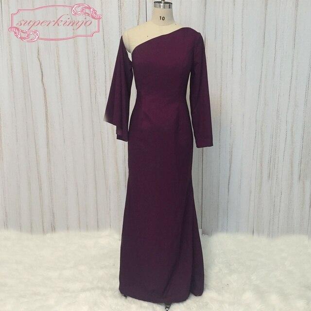 9720c606f5 SuperKimJo Deep Purple Sukienki Wieczorowe Libanie 2018 Prawdziwe Zdjęcia  Mermaid Eleganckie Suknie Wieczorowe Vestido Longo De
