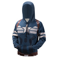 Autumn Winter Hoodied Hoodies Captian 3D Printed Sweatshirts Long Sleeve Tops Thermal Hoodie Casual Clothing Streetwear XXXXL