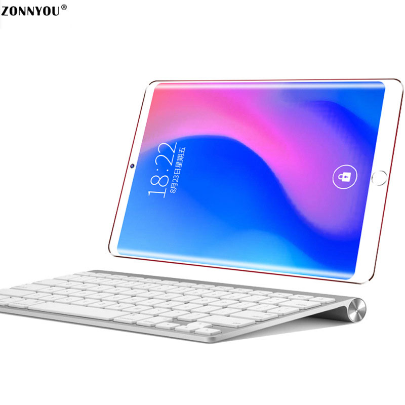 10.1 Inch Tablet Pc New System 3g Phone Call Android 8.0 4gb+32gb Octa Core Dual Sim Support Gps Wi-fi Bluetooth Pc +keyboard