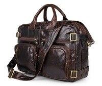 Мужской портфель, сумка из натуральной кожи, 15 , для путешествий, для ноутбука, бизнес, большая емкость, Dou, для мужчин, ts, на плечо, портфель, s,