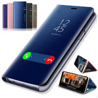 Luxury Mirror View Case For Huawei Honor 8C 8A 8X 7A 7C Pro Aum-l41 AUM-L29 8 9 10 P20 P30 Lite Pro Y7 Y6 Y5 Pro Prime Y9 2019