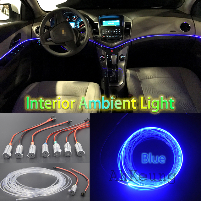 Car Metal Head High Brightness Fiber Optic Lights Car Interior Lights  Ambient Lamp Cold Light Light