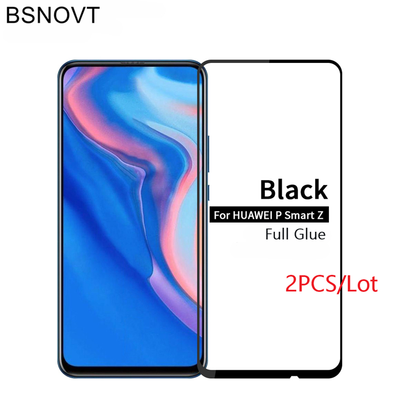 2PCS For Huawei P Smart Z Glass Phone Screen Protector Tempered Glass For Huawei Y9 Prime 2019 Glass For Huawei P Smart Z BSNOVT