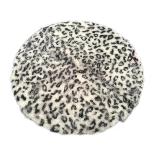 Women Leopard Print Berets...