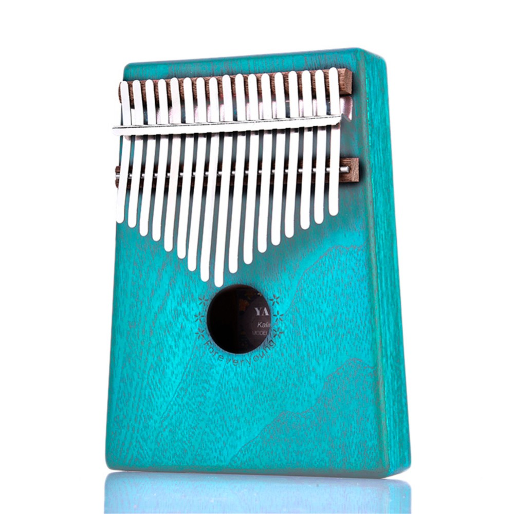 17 Key Kalimba Mahogany Thumb Piano Mbira Solid Wood Thumb Piano Finger Mini Keyboard Instrument Calimba African Natural Piano бутсы зальные joma joma jo001amxjo33