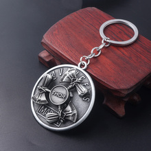 Marvel Thor Axe Hammer Keychain Rotatable Enamel Thor Stormbreaker Weapon Model Key Chain for Men Car Keyring Chaveiro Jewelry