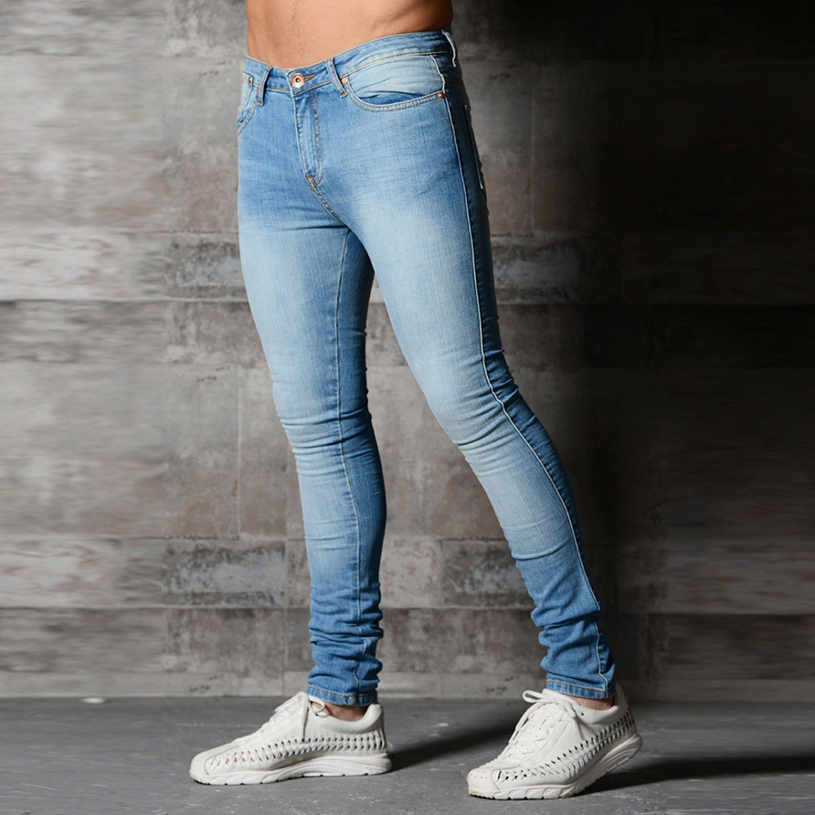 dee5d38ecdf Skinny Jeans Men Black Classic Hip Hop Stretch Jeans Slim Fit Fashion  Famous Brand Biker 2019 New Style Tight Jeans-in Jeans from Men's Clothing  on ...