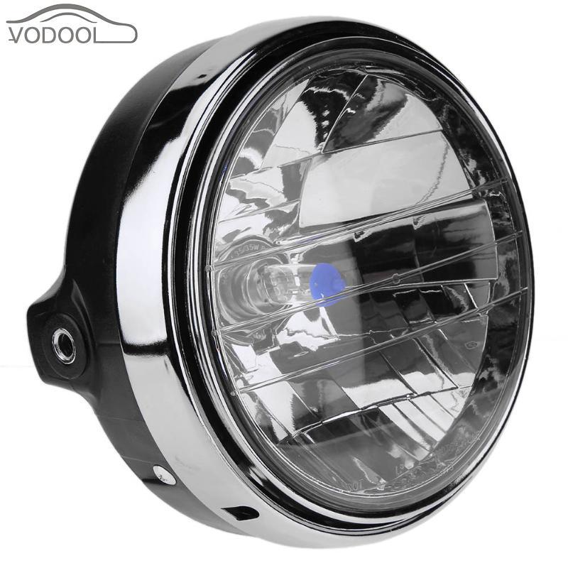 VODOOL Round Motorcycle Halogen Headlight Headlamp Assembly Head Light Lmap for Honda Hornet 600 900 CB400 Moto Accessories