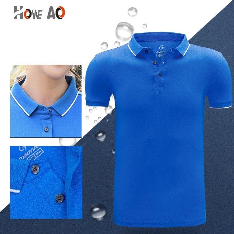 HOWE AO Personalizado Esporte Quick Dry respirável badminton golfe P O L O camisa Jerseysv equipe de tênis de mesa de treinamento jogo execução de T