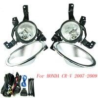 Fog Light For HONDA CRV 2007 2009 Fog Lamps Clear Lens Bumper Fog Lights Driving Lamps