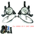 Fog light for HONDA CRV 2007-2009 fog lamps Clear Lens Bumper Fog Lights Driving Lamps YC100586-CL