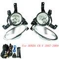 Luz de nevoeiro para honda crv 2007-2009 luzes de nevoeiro lente clara pára nevoeiro luzes de condução lâmpadas yc100586-cl
