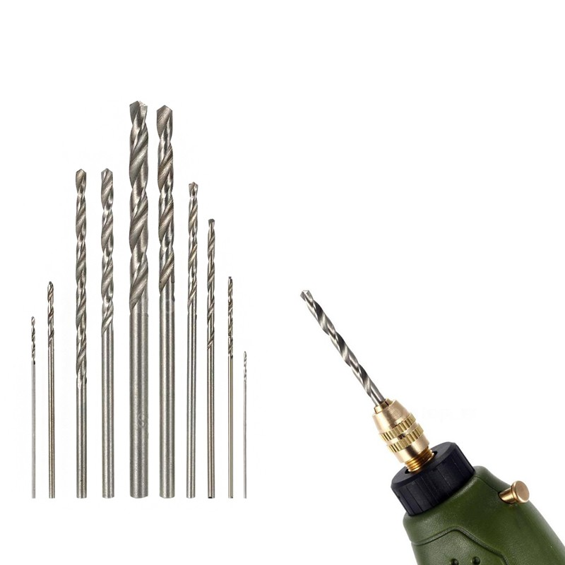 New Twist Drill Bit Set High Quality Diameter 0.5mm~3mm High Speed Steel Hss Micro Mini Drill Tools for Dremel Bit 10pcs 25pcs new 10pcs jobbers mini micro hss twist drill bits 0 5 3mm for wood pcb presses drilling hobby tools