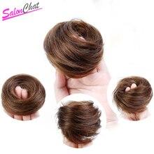 SalonChat Remy Волос Булочка Для Женщин Короткие Шиньоны Аксессуары Для Наращивания Волос Человека