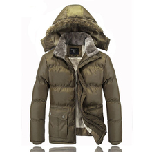 2016 men's jacket men's thick fur collar padded winter warm and comfortable atmosphere of high-quality men's down jacket WZ259