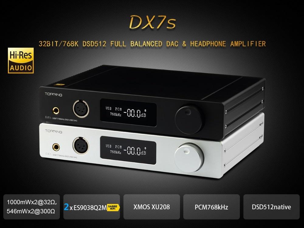 TOPPING DX7s 32Bit/768K DSD512 Full balanced USB DAC Amplifier-01