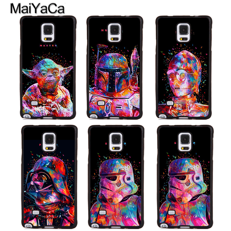 MaiYaCa Star Wars Darth Vader Yoda Phone Cases For Samsung Galaxy S5 S6 S7 edge Plus S8 S9 plus Note 3 4 5 8 Full Cover Shell