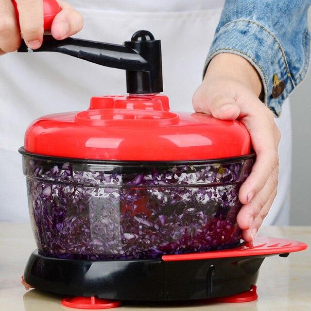 Multifunction Manual Food Processor For Kitchen Portable Blender Meat Grinder Vegetable Chopper Cutter Egg Blender For Household