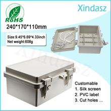 (XD-F54)240*170*110mm Plastic Distribution box large plastic enclosures plastic electrical enclosures