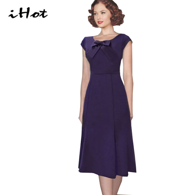 2016Bow short sleeve 1920s evening party dresses Summer sale Fashion ...