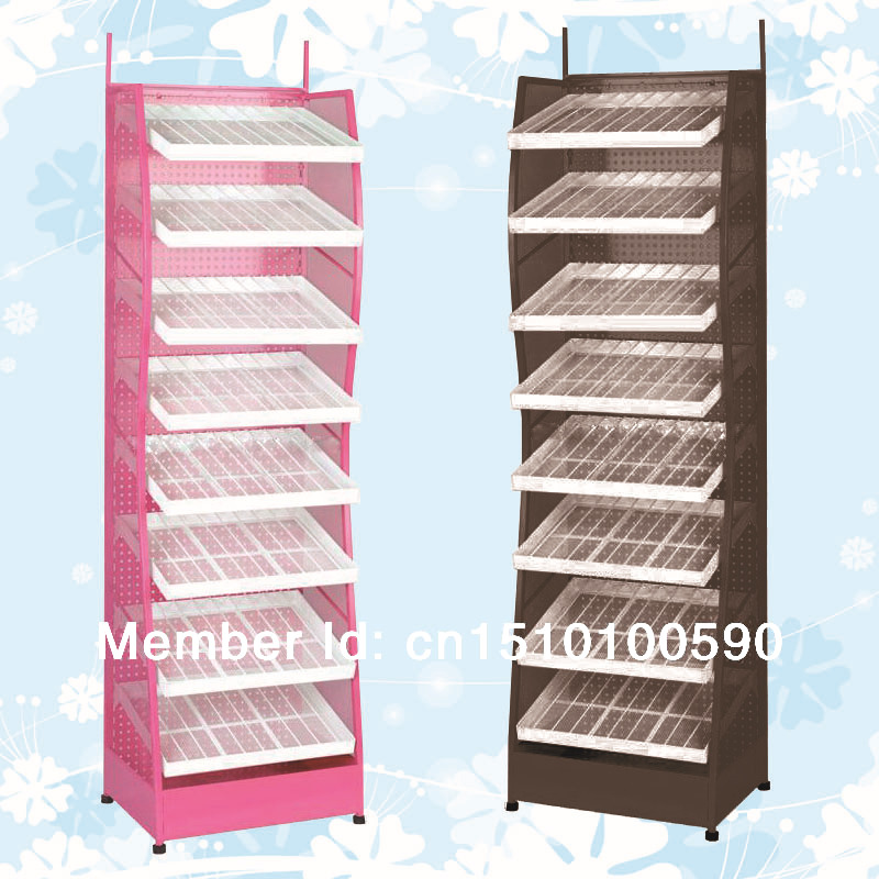 Optional Color Metal Flooring Nail Polish Display Holder Shelf Stand Rack For Art 8 Layers In Equipment From Beauty Health On