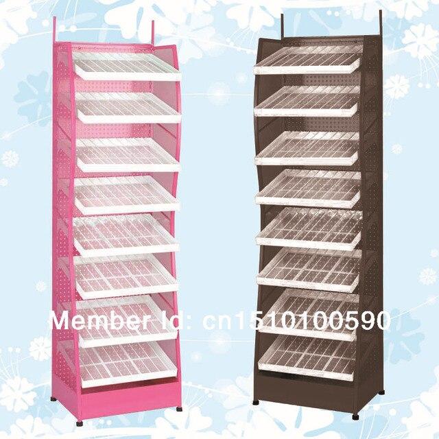 Optional Color Metal Flooring Nail Polish Display Holder Shelf Stand Enchanting Art Display Stands Racks